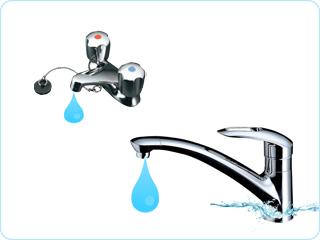 水栓蛇口の水漏れ修理